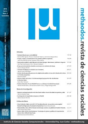 Vol. 8, Núm. 2 (2018) de 'methaodos.revista de ciencias sociales'