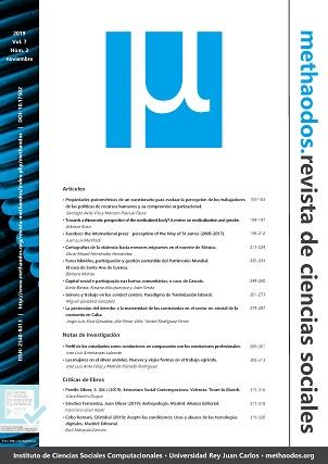 Vol. 7, Núm. 2 (2019) de 'methaodos.revista de ciencias sociales'