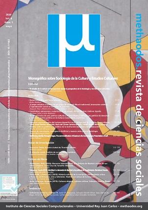 Vol. 8, Núm. 1 (2020). Monográfico sobre Sociología de la Cultura y Estudios Culturales