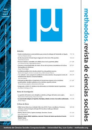Vol. 8, Núm. 2 (2020) de 'methaodos.revista de ciencias sociales'